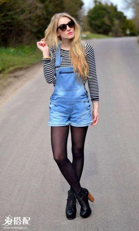 短裤+长筒袜